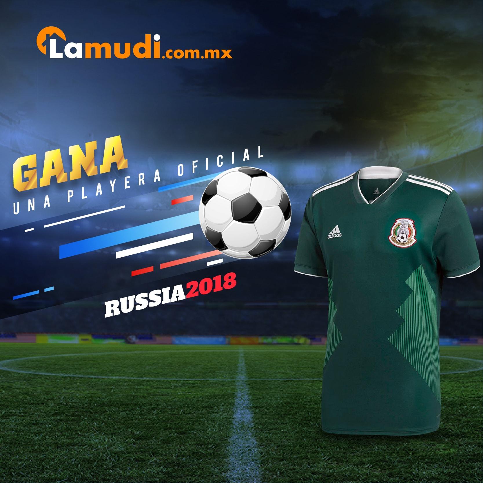 e66e029745b8a ¡Gana una playera de la Selección Nacional del Mundial de Fútbol Rusia 2018!  Lamudi te invita a participar en una sencilla dinámica para ganarte una de  las ...