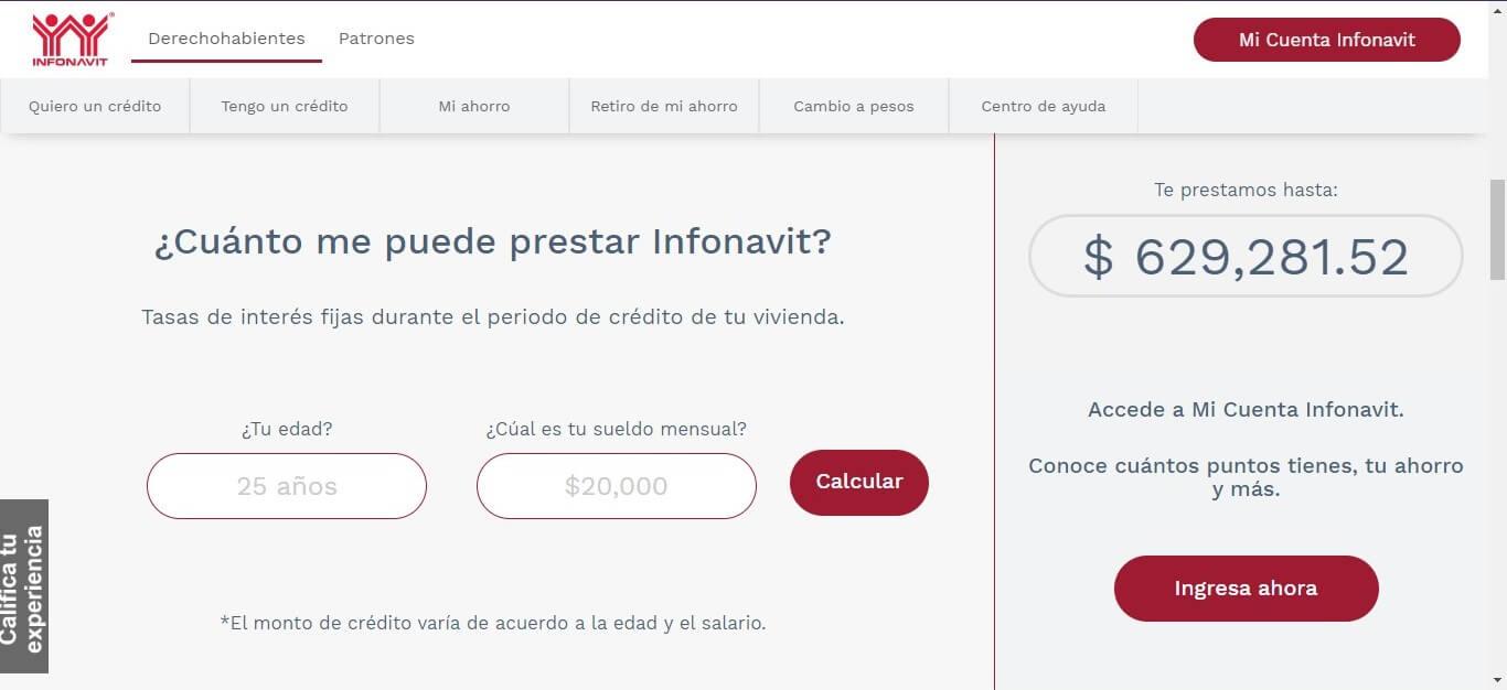El portal Infonavit te permite saber cuánto dinero te prestan