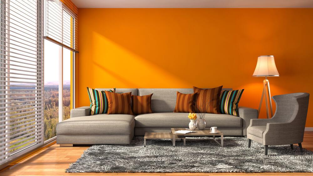 colores para interiores naranja
